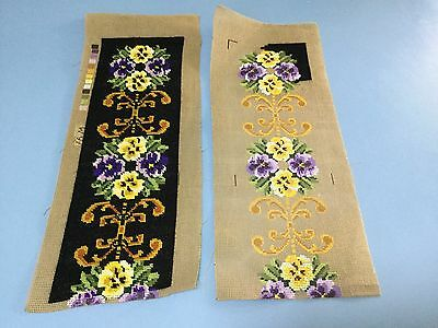 Tapestry - Pansies - 2 Parts - 1 Completed And One Started