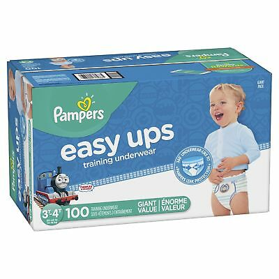 Pampers Easy Ups Pull On Disposable Training Diaper for Boys Size 5 (3T-4T), ...