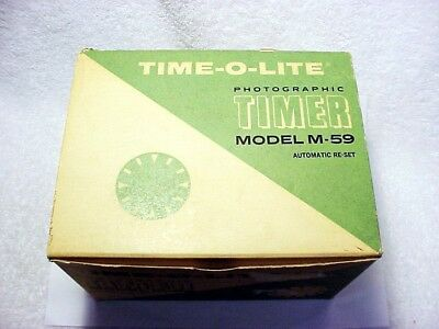 TIME-O-LITE Industrial Darkroom Timer | Model M-59 | New | NOS | $119 |