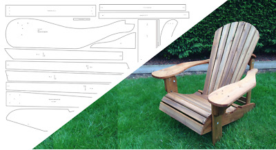 Adirondack Folding Chair & Footstool Plan - Alfresco Furniture