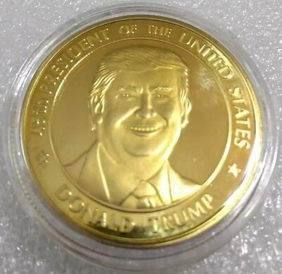 DONALD TRUMP 45th PRESIDENT OF UNITED STATES  Challenge Coin - Gold Finish