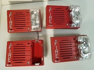 Lot Of 4 Simplex 4903-9219 Fire Alarm Horn/Strobe