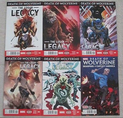 LOT 4 The Logan Legacy 1 2 5 Death Of Wolverine