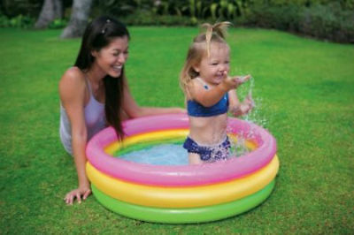 Small Sunset Glow Inflatable Paddle Pool 86cm x 25cm from Intex Inflatables