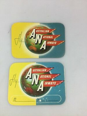 Airlines - Ana - Australian National Airways - 2 Colour Stickers