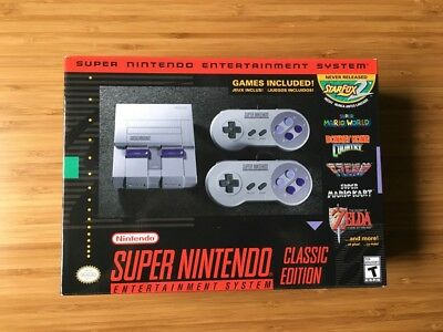 Super Nintendo Entertainment System SNES Classic Edition Mini