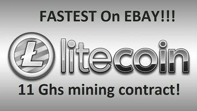 Mining contract 11.5Ghs Scrypt mining for 24 hrs.Litecoin,Doge,Verge.ALL scrypt