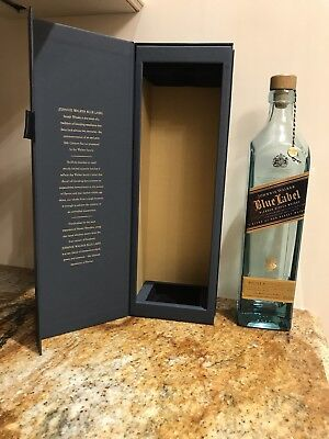 Johnnie Walker Blue Label Blended Scotch Whisky, Empty Bottle & Box 750mL