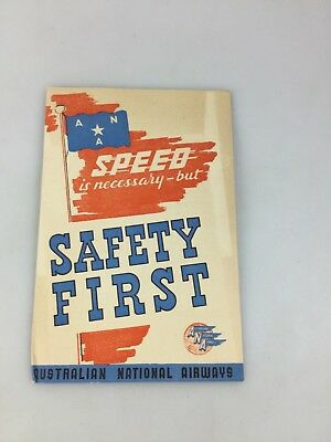 Australian National Airways - Brochure - Speed Is Necessary But Safety First