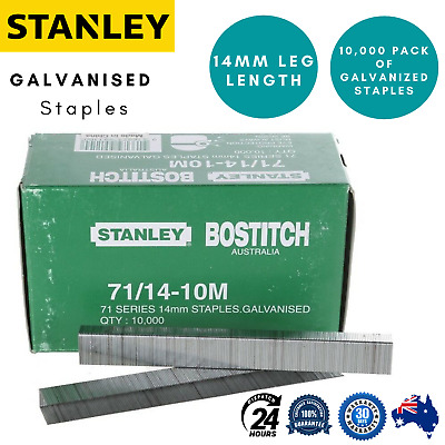 Stanley Bostitch 71 series 14mm Galvanised Staples 10,000 pack 71 / 14 - 10m