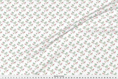 Flamingo Flamingos Palm Tree Tropical Fabric Printed by Spoonflower BTY