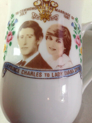 Lady Diana Spencer Prince Charles Marriage 29th July 1981 Commemorate Decor mug