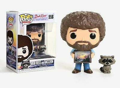 Funko Pop TV: Bob Ross The Joy of Painting - Bob Ross and Raccoon Figure #25701