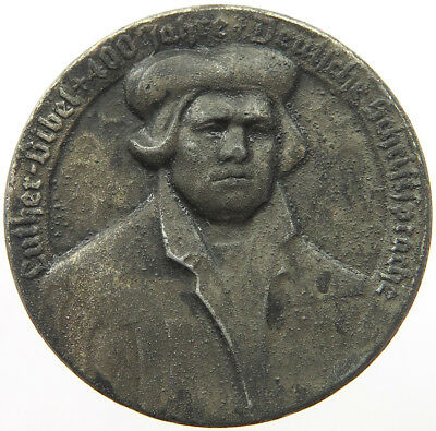 GERMANY ZINC MEDAL LUTHER 34MM   #p41 289
