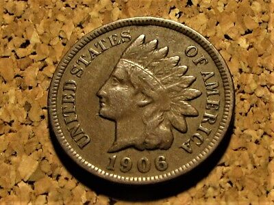1906 Indian Head Penny     Liberty     Free Shipping