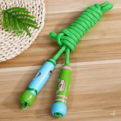 Adjustable Jumping Skipping Rope Wood Handle for Kids Children Outdoor Party