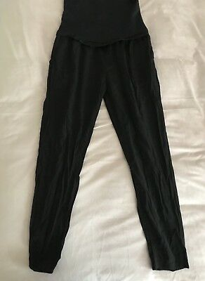 As New MAMALICIOUS Over The Bump Maternity Black Pants. Size L