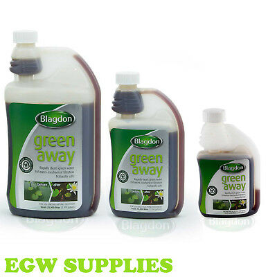 Blagdon Interpet Green Away Pond Cloudy Algae  Water Treatment Harmless To Fish