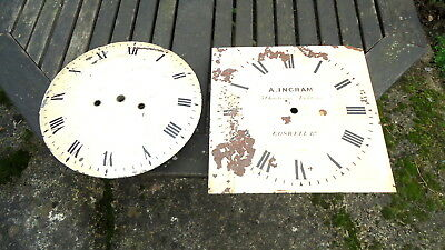 "Antique Collection of ""GRANDFATHER"" Clock Dials for Spares Two Number,"
