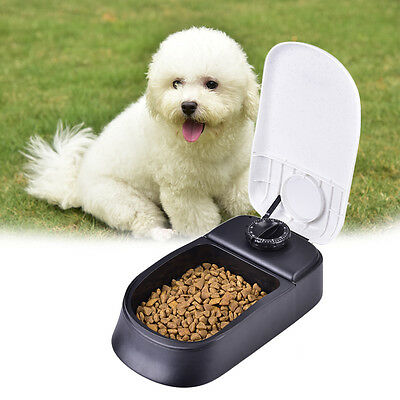 Automatic Pet Dog Cat Food Feeder Dry Meal Set Time Dispenser Bowl Dish Containe