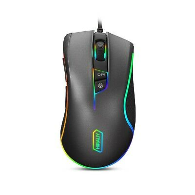 HIRALIY F300 Gaming Mouse Wired RGB Backlit 9 Programmable Buttons 5000 DPI