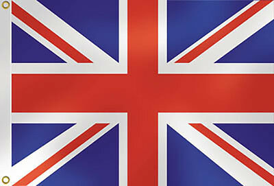 3 PACK -5' x 3' UNION JACK BRITISH FABRIC FLAGS NATIONAL EVENTS COMMEMORATIONS
