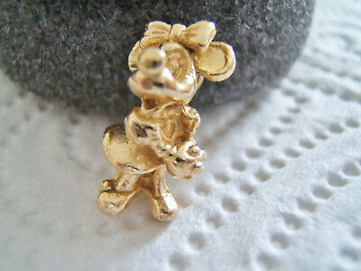 Rare vintage DISNEY MINNIE MOUSE Sterling Silver GILT charm  3.2g