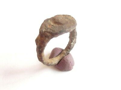 Scarce IRON AGE Hallstatt Culture ANCIENT Celtic Iron Finger Ring 700 BC