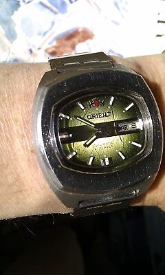 ORIENT Watch, Ca. 1975, Automatic Day & Date Sport