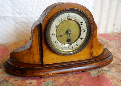 """""""FRENCH"""" Art Deco.  Mantel Clock, with Removable Clock Walnut Works."""