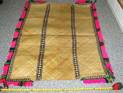 Large woven ceremonial sitting mat from Fiji