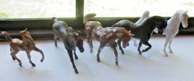 BREYER HORSE LOT of 5 White one Maybe Porcelain 1999 Rare Breyer Reeves