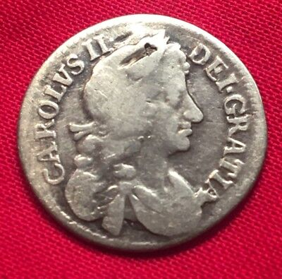 1682 Charles II Silver Maundy Four Pence-Groat Colonial USA Scarce