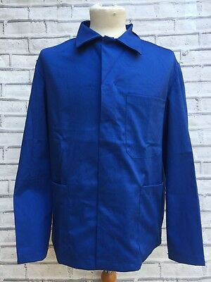 Vintage French Worker CHORE Jacket - Navy Blue - 100% Cotton - M/L