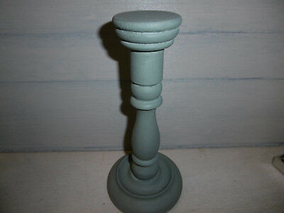 Vintage wooden millinery stand hat stand Annie Sloan Duck egg blue paint