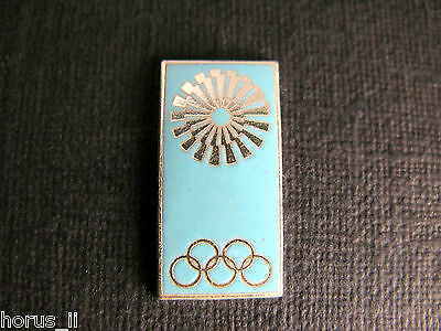Olympiade München 1972 - OTL AICHER - Pin Anstecker EMAILLE Funktionärplakette