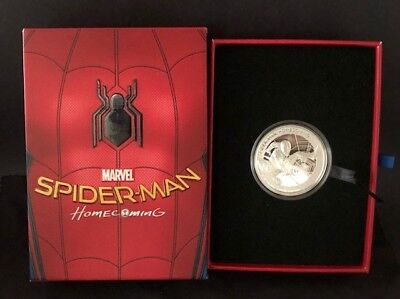 2017 COOK ISLANDS MARVEL *SPIDER-MAN: HOMECOMING* 1oz SILVER PROOF COIN