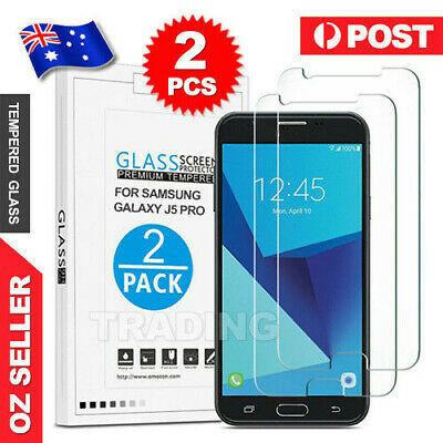 2x Samsung Galaxy J3 J5 J7 Pro 2017 Tempered Glass / Plastic Screen Protector