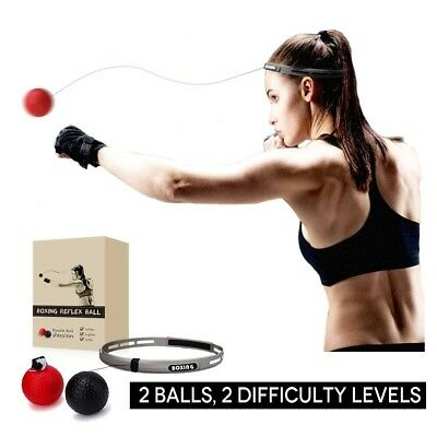 Boxing Reflex Ball, 2 Difficulty Level Boxing Ball with Headband, Softer than Te