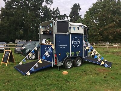 Horse box trailer bar fully equipped with all equipment to trade immediately