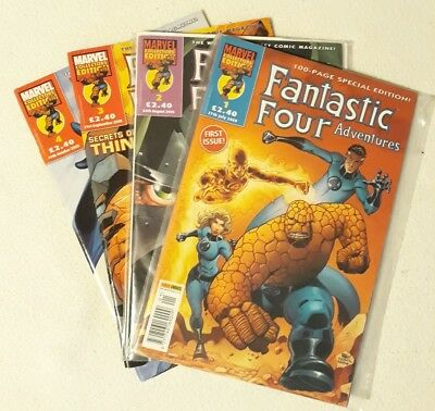 Nm Fantastic Four Adventures # 1 - 4 Marvel Collector's Edition