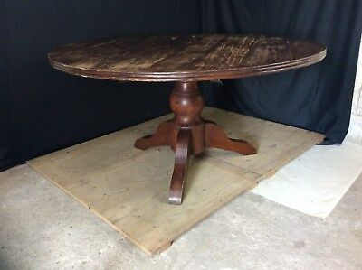 very large antique wooden dining table