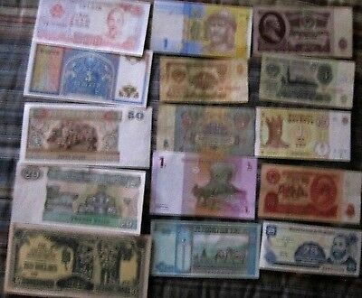 LOT OF 15 WORLD CURRENCY - No Duplicates! Free Shipping!