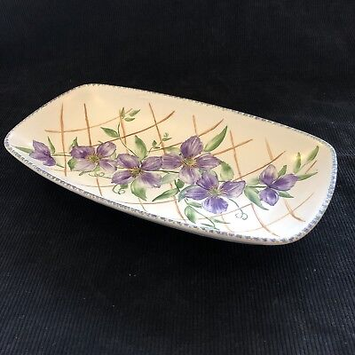 Vintage Crown Ducal 'Floral Design' Rectangular Dish - Hand painted