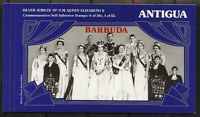 Antigua QEII Silver Jubilee booklet with 2 self-adhesive panes 1977