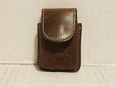 Camel Zippo leather belt pouch with Zippo! NR!