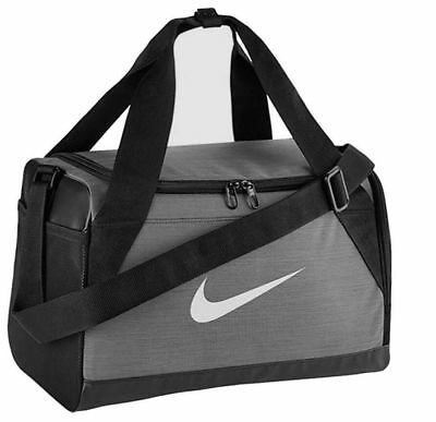 739b5903cdb6 Like us on Facebook · Nike Brasilia 6 Xs Duffel Bag Travel Gym Training  Gray black Ba5432 064 Nwt