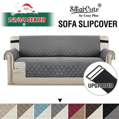 Water Prevent 1/2/3 and Recliner Sofa Protector Slip Cover with Elastic Straps