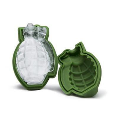 3D Grenade Shape Ice Cube Mold Maker Bar Party Silicone Trays Mold Gift Tool OE