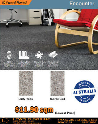 Encounter Residential Carpet | $11.90 SQM | AUSTRALIAN MADE| Wall-to-Wall Carpet